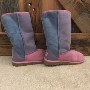 UGGS blue/pink/purple tall boots